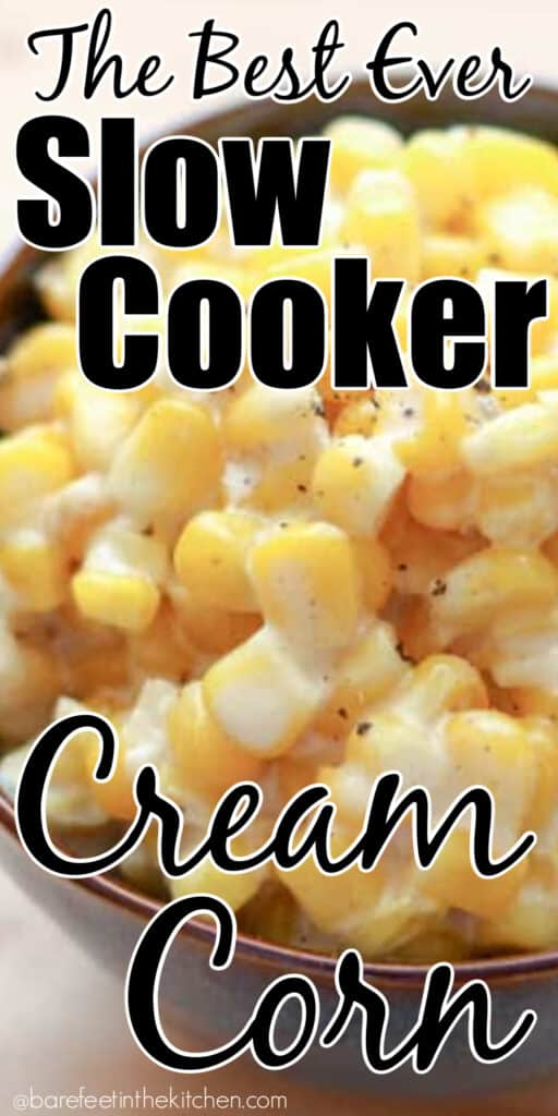 Save the recipe NOW for the best ever Slow Cooker Creamed Corn