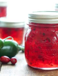 Cranberry Pepper Jam - get the recipe at barefeetinthekitchen.com