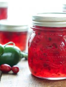 Cranberry Pepper Jam - get the recipe at barefeetinthekitchen.com