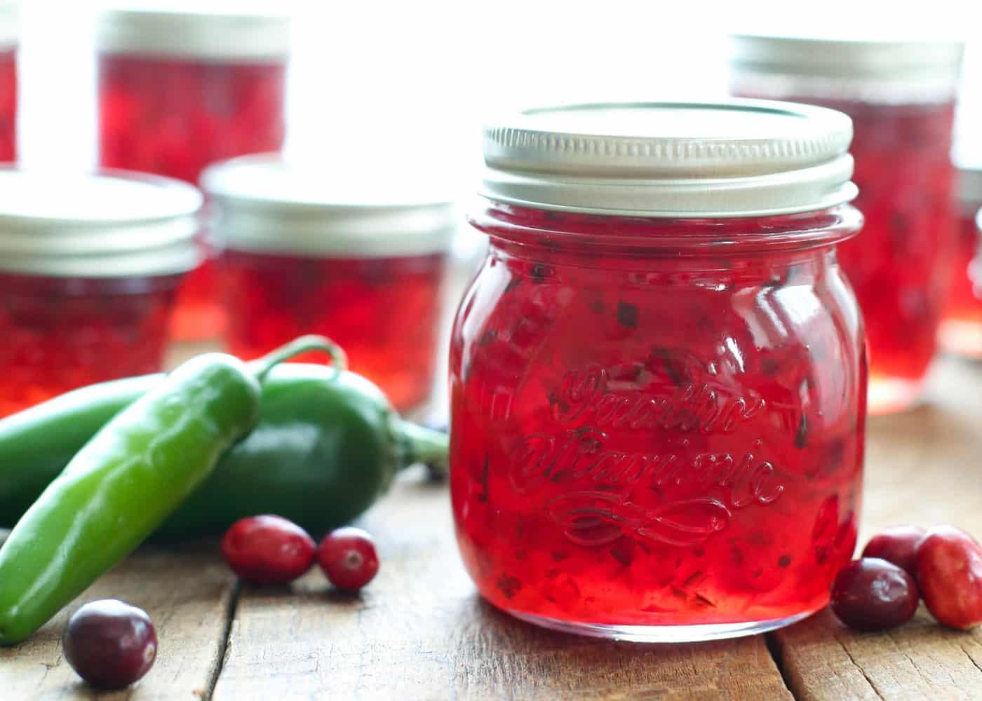 Cranberry Pepper Jam Barefeetinthekitchen Com