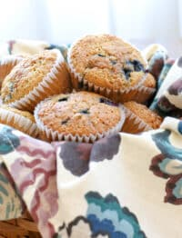 The best bran muffins are light and fluffy! get the recipe at barefeetinthekitchen.com