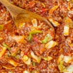 So much easier than traditional cabbage rolls, you're going to love this one pan meal!