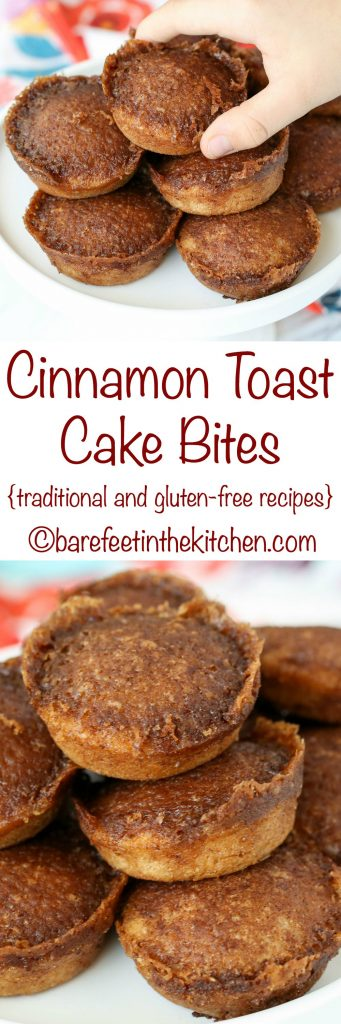Cinnamon Toast Cake Bites are the ultimate treat for any cinnamon toast lover! - get the recipe at barefeetinthekitchen.com