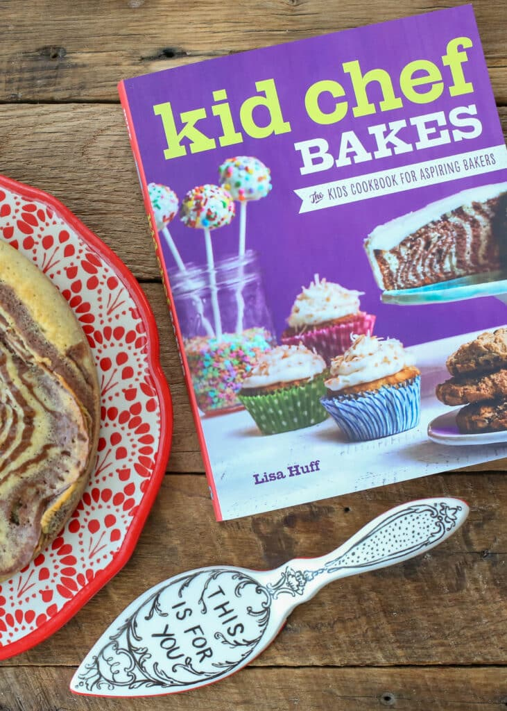 Zebra Cake recipe from Kid Chef Bakes - get the directions at barefeetinthekitchen.com