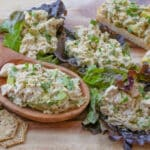 Avocado Chicken Salad - get the recipe at barefeetinthekitchen.com