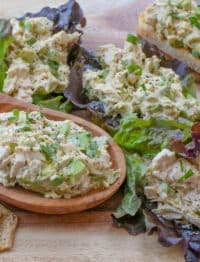 Avocado Chicken Salad - get the recipe at barefeetinthekitchen.com