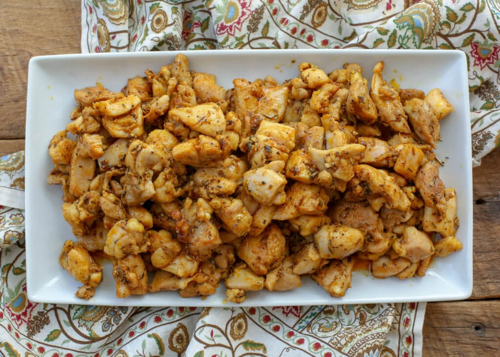 Indian Chicken Bits are a 15 minute dinner favorite.