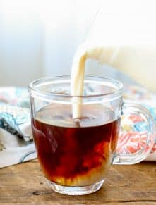 Italian Cream Liqueur - a.k.a. the best coffee creamer ever! get the recipe at barefeetinthekitchen.com