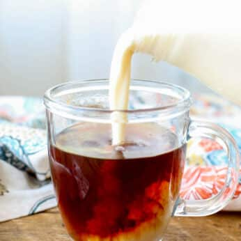 Italian Cream Liqueur - a.k.a. the best coffee creamer ever! get the recipe at barefeetinthekitchen.com