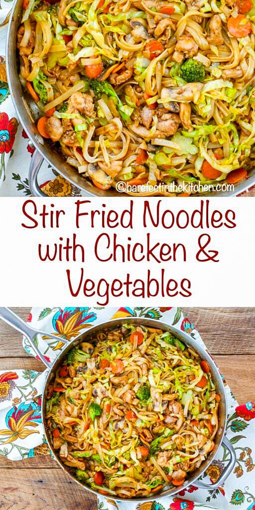 Best Stir Fry Noodles with Chicken and Vegetables