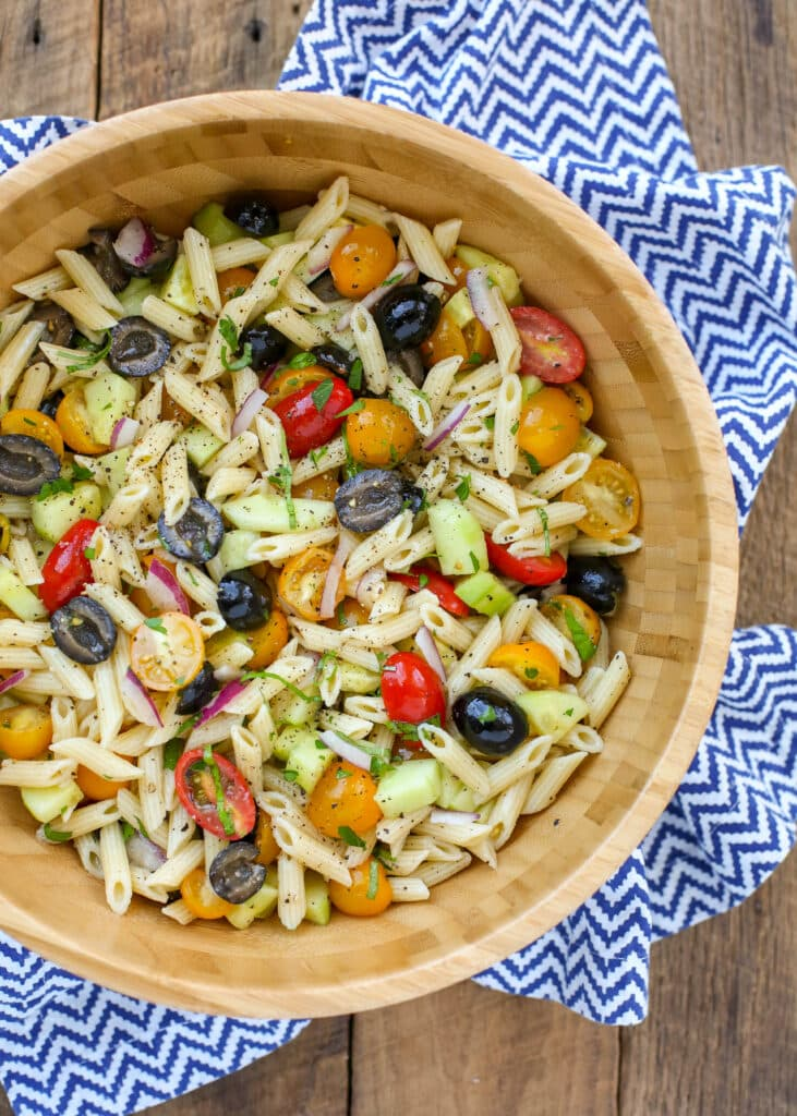 This summer pasta salad is loaded with Italian flavors - you're going to love it!
