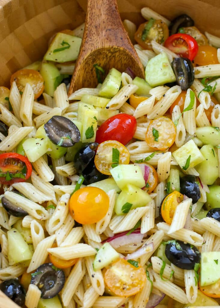 Served cold or at room temperature, this pasta salad recipe is a keeper!
