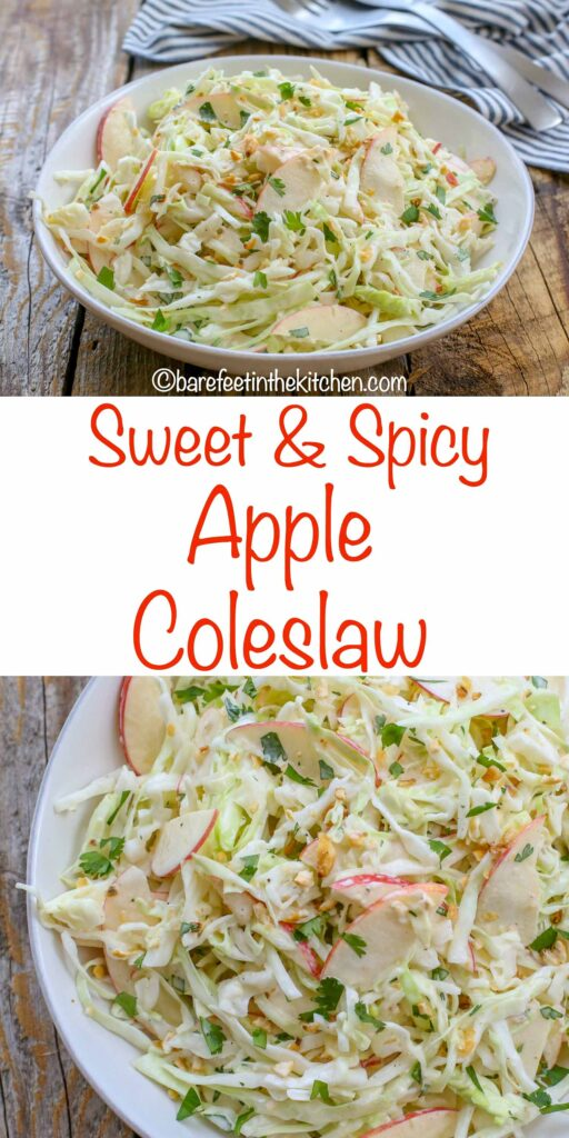 Sweet and Spicy Coleslaw with Apples