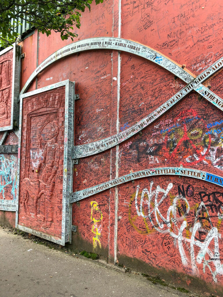 Belfast, Ireland's Peace Wall - see more at barefeetinthekitchen.com