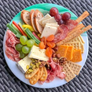 DIY Cheese plate - you might be surprise what you can find to use! see more at barefeetinthekitchen.com