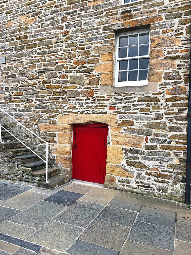Wee little doorway in Kirkwall - see more at barefeetinthekitchen.com