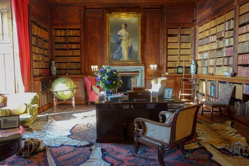 The library at Dunrobin Castle is home to over 10,000 books. - read more at barefeetinthekitchen.com
