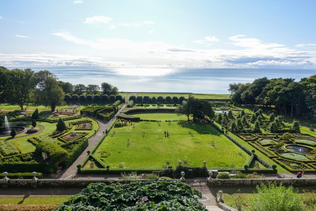 The gardens at Dunrobin Castle - read more at barefeetinthekitchen.com