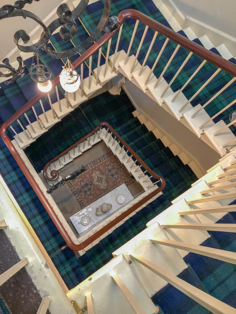 Dunrobin Castle staircase - read more at barefeetinthekitchen.com