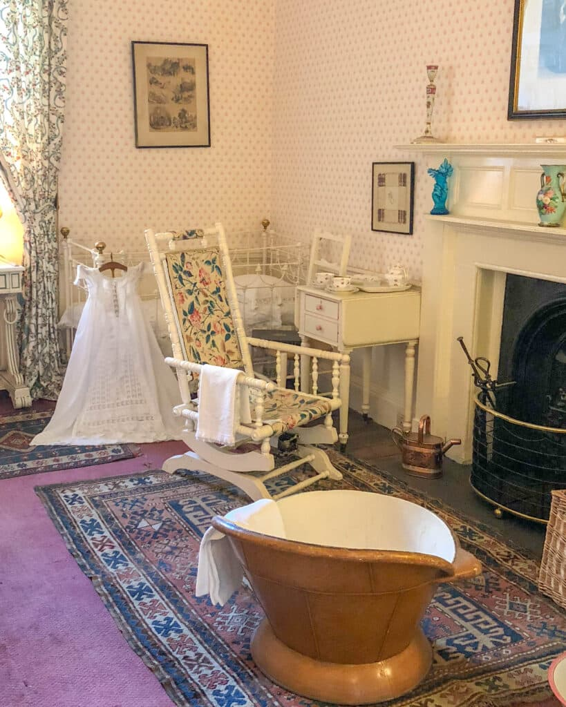 The nursemaid's room at Dunrobin Castle in Scotland - read more at barefeetinthekitchen.com