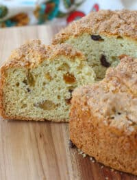 Irish Raisin Soda Bread - get the recipe at barefeetinthekitchen.com