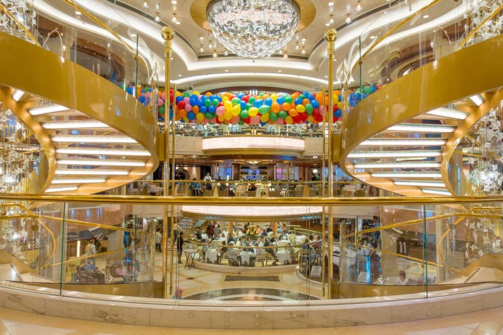 The Royal Princess - British Isles Cruise balloon drop - read more at barefeetinthekitchen.com