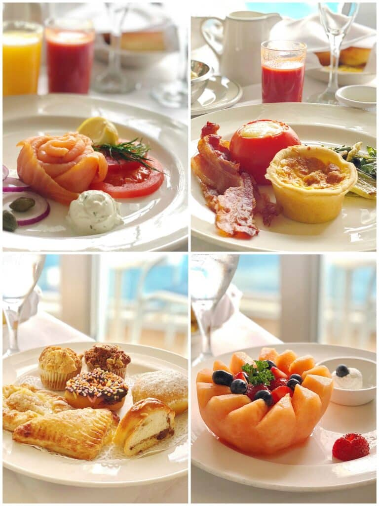 The Royal Princess cruise ship - The ultimate birthday breakfast - read more at barefeetinthekitchen.com