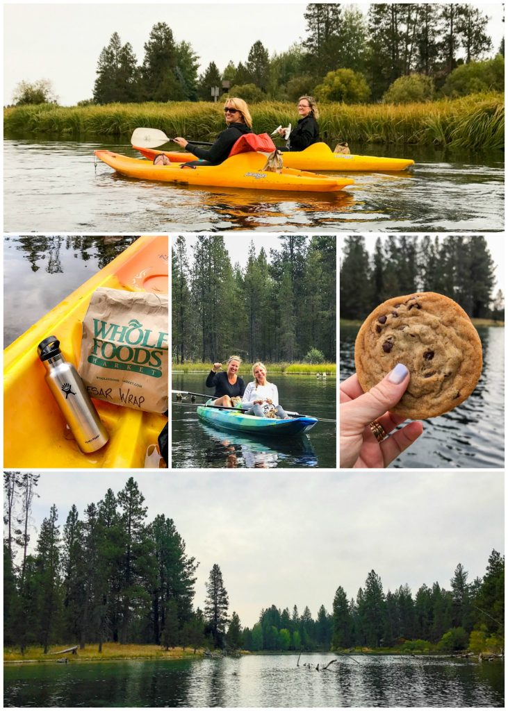 Kayaking on the Deschutes River in Sunriver, OR