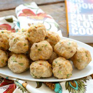 Ginger Scallion Turkey Meatballs - get the recipe at barefeetithekitchen.com
