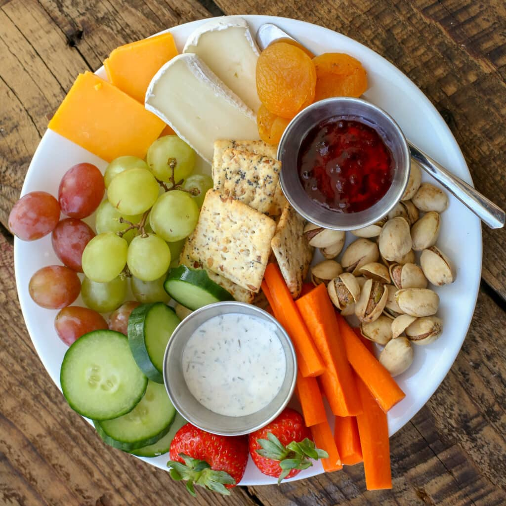 Cheese plate snacking and an awesomely cheesy giveaway! get the details at barefeetinthekitchen.com
