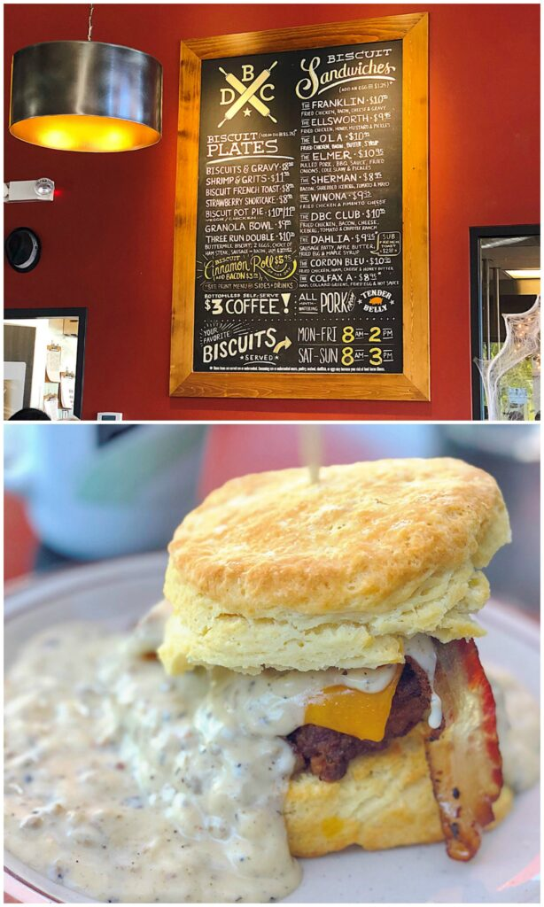 The Franklin biscuit sandwich at Denver Biscuit Company - read more at barefeetinthekitchen.com