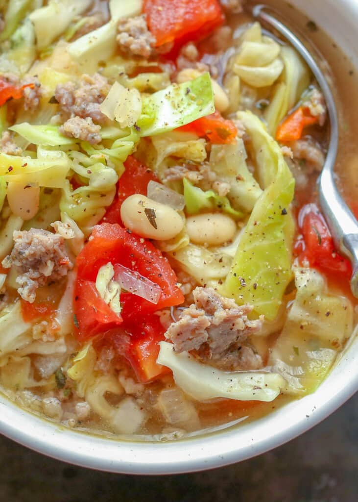 Italian Cabbage Sausage Soup