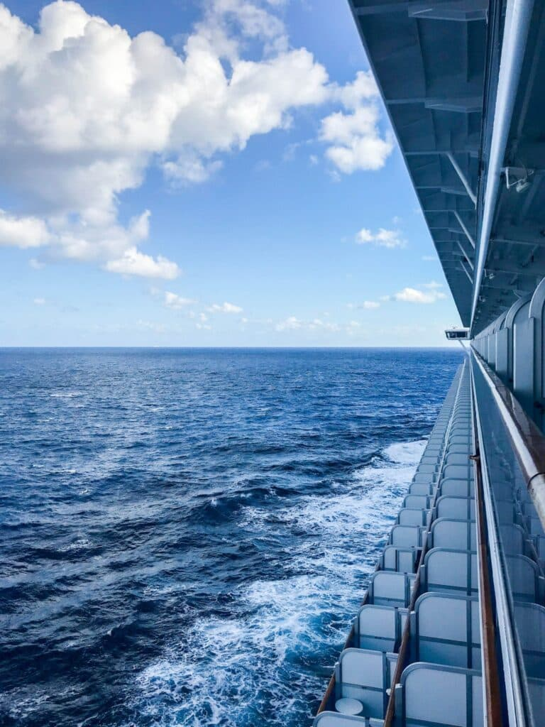 Balcony view onboard Princess Cruises
