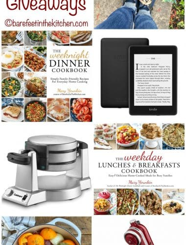 12 Days of Christmas Giveaways at barefeetinthekitchen.com
