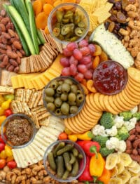 Simple Cheese Board's are the ultimate party food - read more at barefeetinthekitchen.com