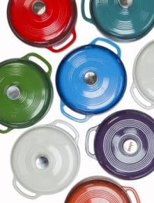 Lodge 6 QT Enameled Cast Iron Dutch Oven Giveaway - Enter the giveaway at barefeetinthekitchen.com