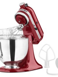 Enter to win this Empire Red KitchenAid Stand Mixer at barefeetinthekitchen.com