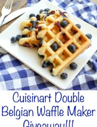 Enter to Win a Cuisinart Double Belgian Waffle Maker! leave a comment at barefeetinthekitchen.com