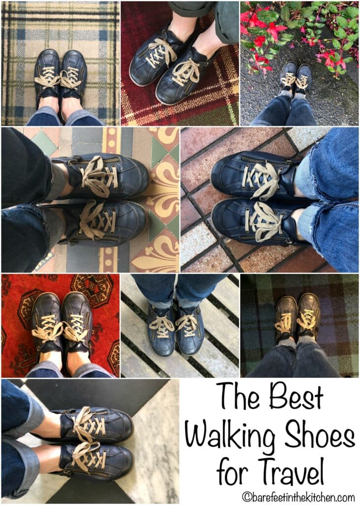 The Best Walking Shoes for Travel - read more at barefeetinthekitchen.com