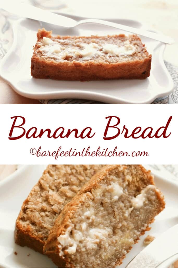Sour Cream Banana Bread is the BEST banana bread! - get the recipe at barefeetinthekitchen.com