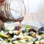 Blueberry Apple Walnut Salad with Honey Balsamic Dressing