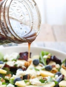 Blueberry Apple Walnut Salad with Honey Balsamic Dressing