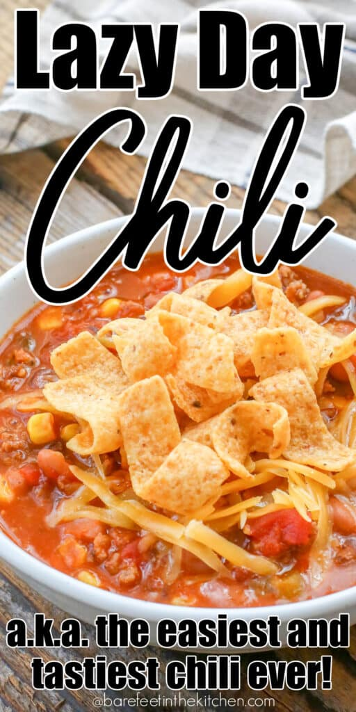 Lazy Day Chili is the easiest (and tastiest!) chili ever!