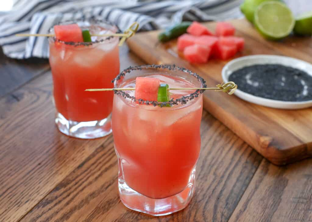 Sandia En Fuego (a.k.a. the best spicy margarita ever!)