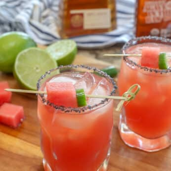 Sandia En Fuego is the best margarita I have ever tasted. Get the recipe at barefeetinthekitchen.com