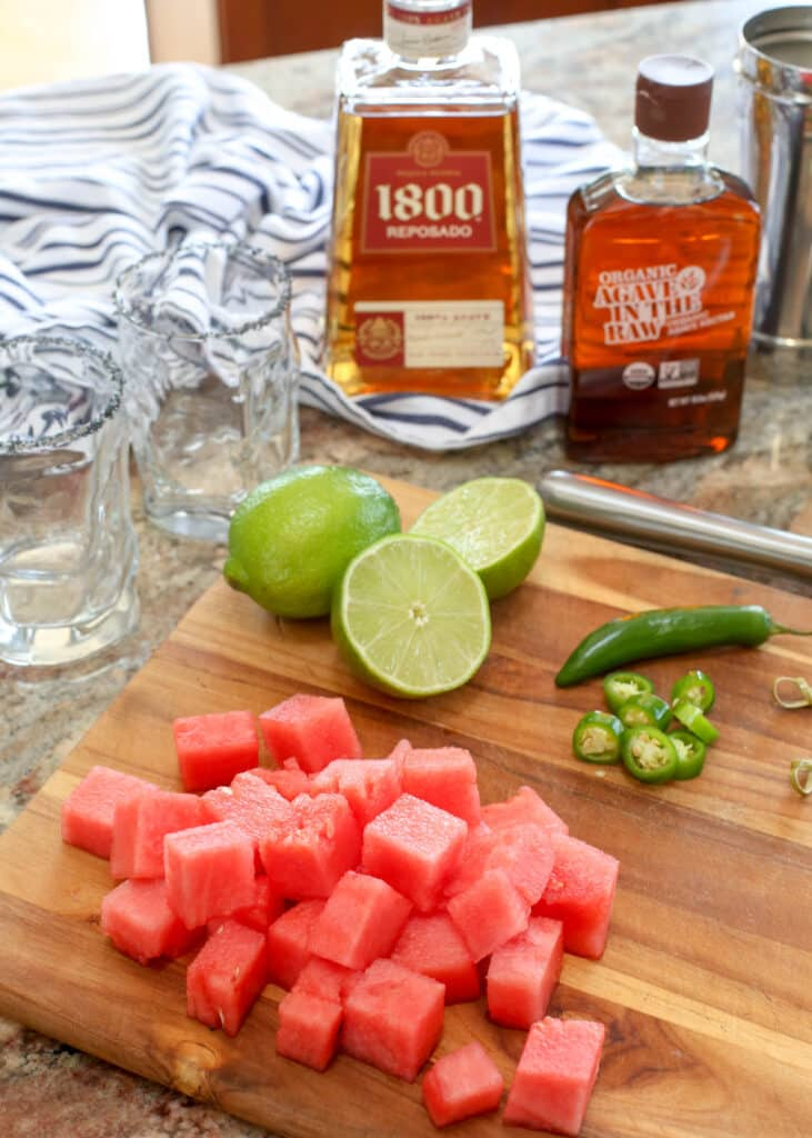 Sandia En Fuego (a.k.a. the best spicy margarita ever!) is easy to make and unforgettable!