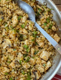 "Mexican ""Fried Rice"" with Cauliflower and Chicken"