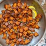 Lemon Butter Sweet Potatoes