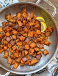 Lemon Butter Sweet Potatoes