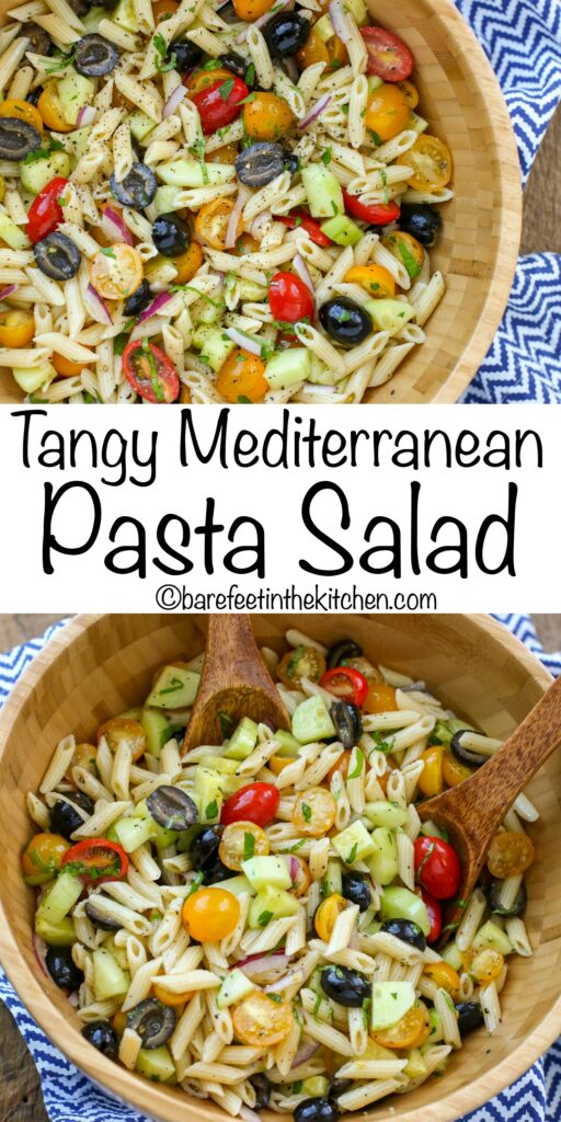 Italian Pasta Salad - get the recipe at barefeetinthekitchen.com